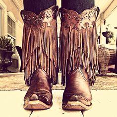 Fringe boots #fringe #boots #corral