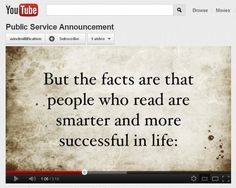 YouTube PSA on Literacy. Kimberly Nakayama, MYP Student Project.
