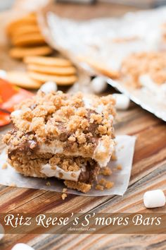 ritz reese's s'mores bars ohsweetbasil.com