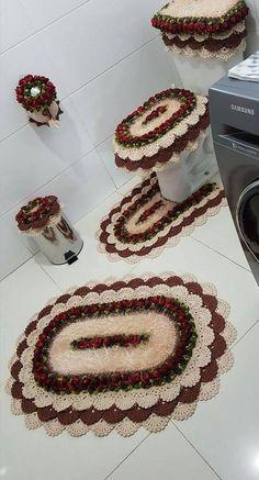 Crocheted Bathroom Set Ideas for Crochet Lovers Vintage Crochet Doily Pattern, Crochet Baby Dress Pattern, Crochet Diagram, Crochet Doilies, Crochet Flowers, Free Knit Shawl Patterns, Crochet Rug Patterns, Crochet Scrubbies, Crochet Chicken