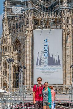 Paul and Sara at Duomo di Milano Artistic Photography by Ron Elledge