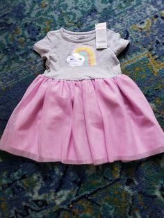Baby & Toddler Clothing Gymboree Girl Hot Pink With Black Polk Dot Jumper Dress Size:12-18 Mos Possessing Chinese Flavors