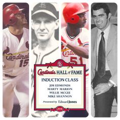 Your 2014 St. Louis Cardinal Hall Of Famers...congrats to all four of these fantastic players. :)