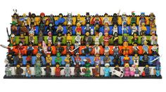 Love this display - LEGO Collectable Minifigures Series 1 ~ 6 (96 Minifigures) by 713 Avenue, via Flickr