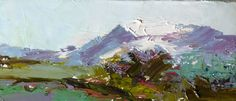 Thinking Out Loud, Some practice with brush strokes and mark making - Plein Air from a while back