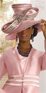 DONNA VINCI COUTURE WOMENS PINK CHURCH SUIT. MATCHING HAT sold separately for $197.99