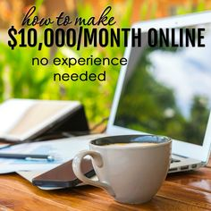 I'm a mom who's been making money online for more than 18 years. This is, by far, my favorite way to make money from home and you don't even need any previous experience. I didn't have any when I… Make Money Blogging, Money Tips, Money Saving Tips, Make Money Online, Work From Home Jobs, Make Money From Home, Way To Make Money, Money Fast, Making Ideas