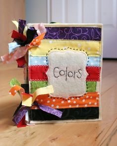 Fabric Learning Baby Book - Awesome way to use scrap fabric!