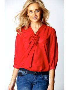 Shop irresistible styles of fresh on trend women's blouses and update your wardrobe. Explore fashion blouses in chiffon, silk, plus more. Simple Shirts, Bow Blouse, Blouse Styles, Blouses For Women, Chiffon, Feminine, Bows, Women's Shirts, Stylish