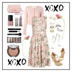"""""""Spring Wedding Date"""" by allonsysarah on Polyvore featuring Lipsy, Miss Selfridge, Trish McEvoy, NARS Cosmetics, RED Valentino, H&M, Hobbs, Lipstick Queen, Giorgio Armani and Becca"""