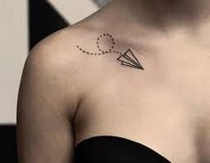 4c13dca827d70 Paper Airplane Tattoo Meaning 38 Paper Airplane Tattoos, Paper Plane Tattoo,  Tattoo Paper,