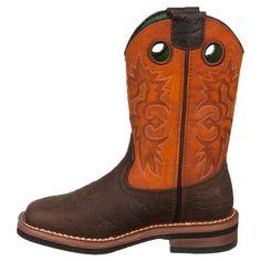John Deere Kids' Square Toe Pull On Cowboy Boot Toddler/Preschool Boots (Brown/Rust) - 11.0 M