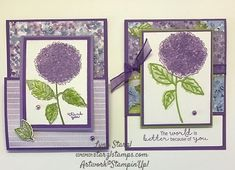 Love this GORGEOUS Hydrangea Hill Designer Series Paper, and the Hydrangea Haven bundle! Valentine Cards To Make, Simple Birthday Cards, Birthday Cards For Women, Hydrangea Not Blooming, Pink Hydrangea, Hydrangeas, Heartfelt Creations, Flower Cards, Creative Crafts