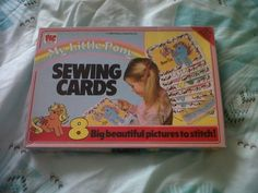 vintage 1980's my little pony rare sewing cards complete mint never used x 8