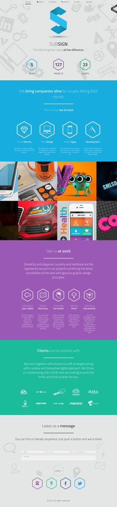 Subsign is a creative digital agency focused on delivering user-oriented website designs, creative videos, innovative 3D graphics and mobile apps.