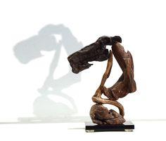"Driftwood Horse Sculpture, "" CHESS KNIGHT "" ,Abstract Decodative Art , Natural Wood Figure .... by driftwoodartwork on Etsy"