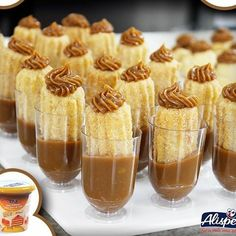 Small Desserts, Mini Desserts, Dessert Recipes, Mini Dessert Cups, Bridal Shower Desserts, Wedding Desserts, Churros, Dessert Shots, Dessert Buffet
