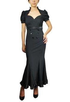 1930 fashion dresses | 1930s dresses fashion 1930s Style Dress: Black Mermaid Pin-up Dress ...