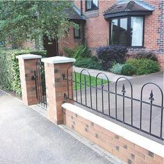1000 images about front garden wall design on pinterest for Designs for brick garden walls
