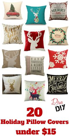 Why buy holiday pillows when you can get these must have pillow covers instead? These 20 Christmas pillow covers under $15 are stylish and easier to store!