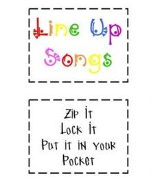 Line Up Songs-ridiculously silly, but cute