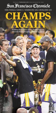 adbb24bb4 Warriors 2017 NBA finals Game 5 newspaper 6/13/2017. San Francisco  Chronicle online store