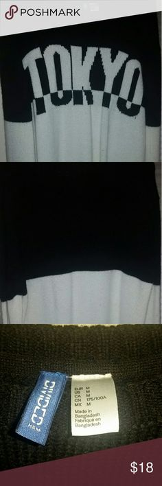 Men's M H&M Black and White TOKYO Sweater Lightly worn sweater from H&M, no visible damage. H&M Sweaters Crewneck