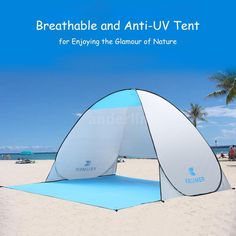Portable Beach Canopy Sun Shade Shelter Outdoor Camping Fishing Tent Pop Up N2J7