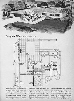 mid century modern house plans | mid-century modern building plans