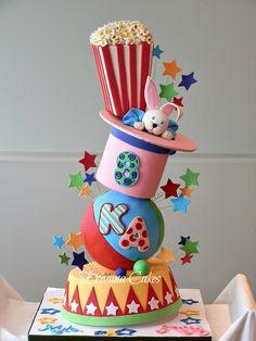 Topsy Turvy Carnival cake