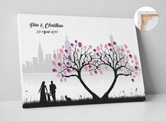 In memory of your most beautiful day, a wedding tree is a wonderful alternative to Tree Wedding, Wedding Guest Book, Diy Wedding, Wedding Gifts, Wedding Vintage, Wedding Menu, Wedding Ideas, Motivational Wallpaper Iphone, Wedding Photography Poses