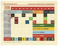 Great Divide Beer Calendar 2015