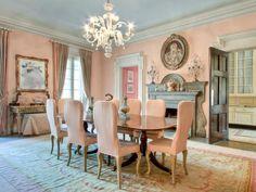 Dining Room. Calhoun House, Atlanta. Architect: Philip Shutze.