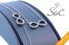 39$ pour un superbe ensemble de collier et bracelet éternité, disponible en 3 couleurs (valeur de 92$)  - taxes et livraison incluses