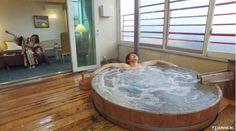happy bath time♡ Queen's Collina・ Western-style room with open-air Jacuzzi  @ Hotel Sunvalley Nasu #japankuru #japan #cooljapan #nasu #hotel #hotelsunvalley #cypressbath