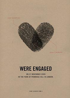 Fingerprint engagement card