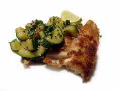 Dijonpaneroidut kuhafileet ja kurkkusalaatti / Kipparin morsian