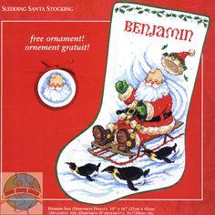 free counted cross stitch christmas stockings patterns ocean - Google Search