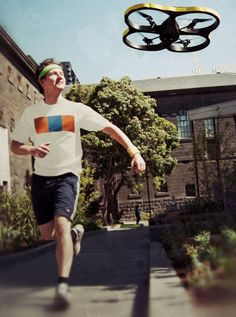 Hunting for a run buddy? Have you considered making that buddy a robot? Joggobot by Eberhard Gräther and Exertion Games Lab has. [original photo by Exertion Games Lab]