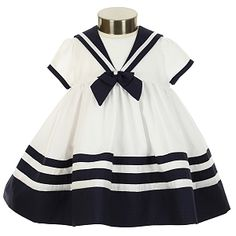 Classic Sarah Louise - White and navy Sailor Dress : )