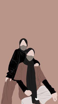 Cover Wattpad, Hijab Drawing, Phone Wallpaper Images, Wallpapers, Islamic Cartoon, Anime Muslim, Hijab Cartoon, Islamic Girl, Digital Art Girl