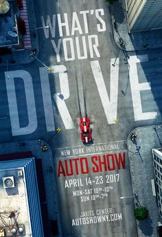 Beautiful advertising work done in and Photoshop by Dan Forkin Studio for the 2017 New York City International Auto Show. Poster Design Layout, Graphic Design Posters, Graphic Design Typography, Graphic Design Illustration, Graphic Design Inspiration, Typography Inspiration, Auto Poster, Car Posters, Email Design