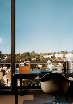 Aubrey's Office Inspiration: You can't go wrong with a work space view!