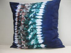 Hand tie dyed pillow Throw Pillow Cover 18 x 18 by AddisonMade, $62.74