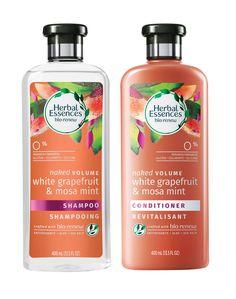 Herbal Essences Bio:Renew White Grapefruit & Mosa Mint Shampoo and Conditioner Set, fl oz Each Homemade Conditioner, Good Shampoo And Conditioner, Homemade Shampoo, Face Scrub Homemade, Homemade Hair, Mint Shampoo, Sulfate Free Shampoo, Shampoo For Fine Hair, Hair Shampoo