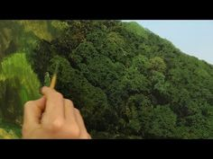 Awesome Trees - Painting large canopy of trees with lots of variation - Oil painting demo by artist Michael James Smith Acrylic Painting Lessons, Acrylic Painting Techniques, Painting Videos, Trees Drawing Tutorial, Michael James Smith, Gouache, Bob Ross, Learn To Paint, Landscape Paintings