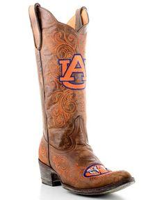 """Auburn """"War Eagle"""" Gameday boots - Love em'!!  Won't ever have em', but LOVE em'!!  ;)"""