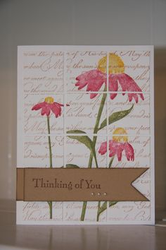 Stampin' Up 'Script' and 'Inspired by Nature sets