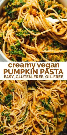 Pumpkin Pasta, Vegan Pumpkin, Pumpkin Recipes, Pumpkin Pumpkin, Fall Recipes, Dinner Recipes, Gluten Free Pumpkin, Healthy Pumpkin, Pumpkin Dessert