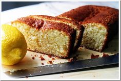 Healthy Lemon Yogurt Cake! You can can also add some poppy seeds in the cake mixture before you bake it... Enjoy